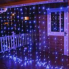 Гирлянда Штора светодиодная, 500 LED, Голубая (Синяя), прозрачный провод, 3х2м., фото 10