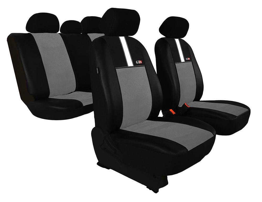 Автомобильные чехлы универсальные Pok-ter GT8 из экокожи и алькантара цвет светло-серый