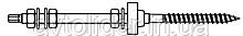 комплект - шпилька (WS 9211) + 3 гайки (DIN 934) + 3 шайбы (DIN 125) + шайба EPDM (WS 9218)
