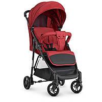 Детская прогулочная коляска M 4249 Red,коляска-книжка,текстиль+лён