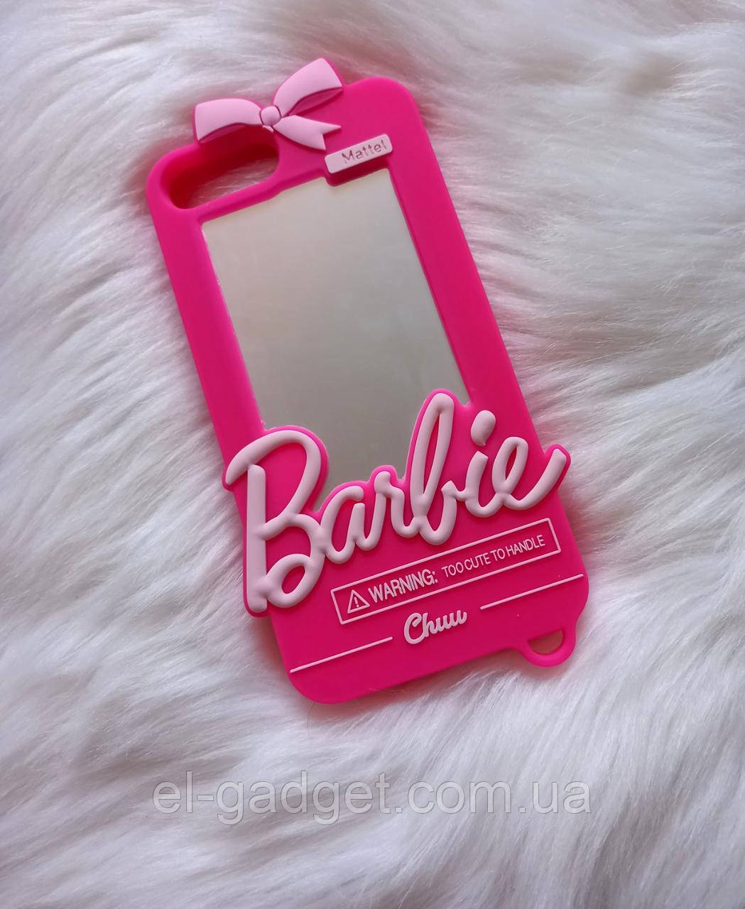 Чехол 3D для iPhone 6s plus Барби Barbie розовый