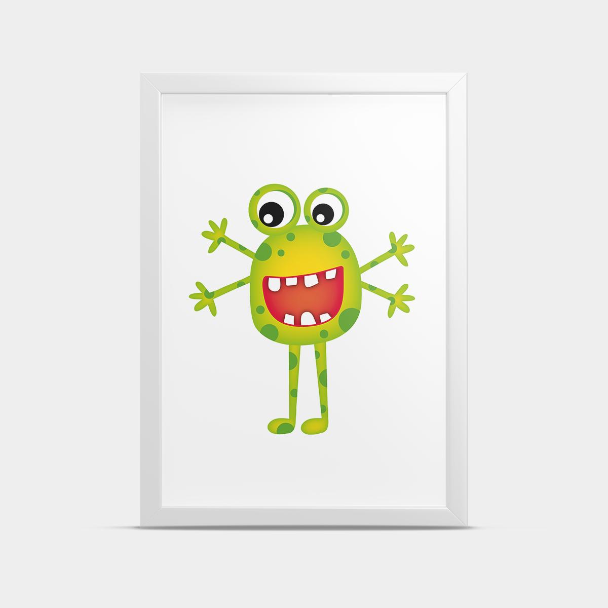 Постер Монстр Зеленый 30*40 см