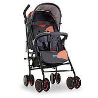 Коляска детская прогулочная M 4244 Gray Orange,коляска-трость,сталь,текстиль OXFORD