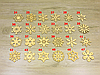 Сніжинки з фанери на новорічну ялинку (форма №36), фото 3