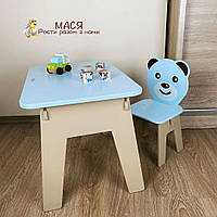 Вау! Детский стол! Отличный подарок для ребенка. Стол с ящиком и стульчик. Для учебы,рисования,игры