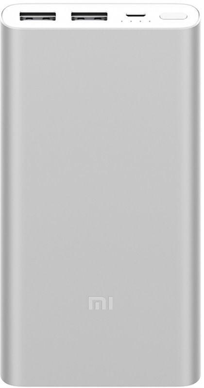 ✅ Аккумулятор Xiaomi Mi Power Bank 2i 10000 mAh Silver батарея, зарядка, повер банк   Гарантия 12 мес