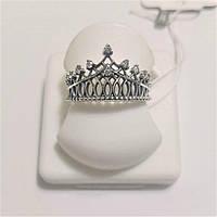 Серебряное кольцо из серебра с цирконами Корона 3, фото 1