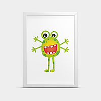 Постер Монстр Зеленый 20*30 см