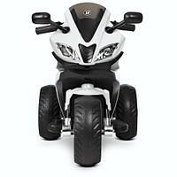 Детский электромотоцикл Bambi M 4195EL - 1 Белый, два мотора, два аккамулятора,MP3 (Гарантия 12 мес)