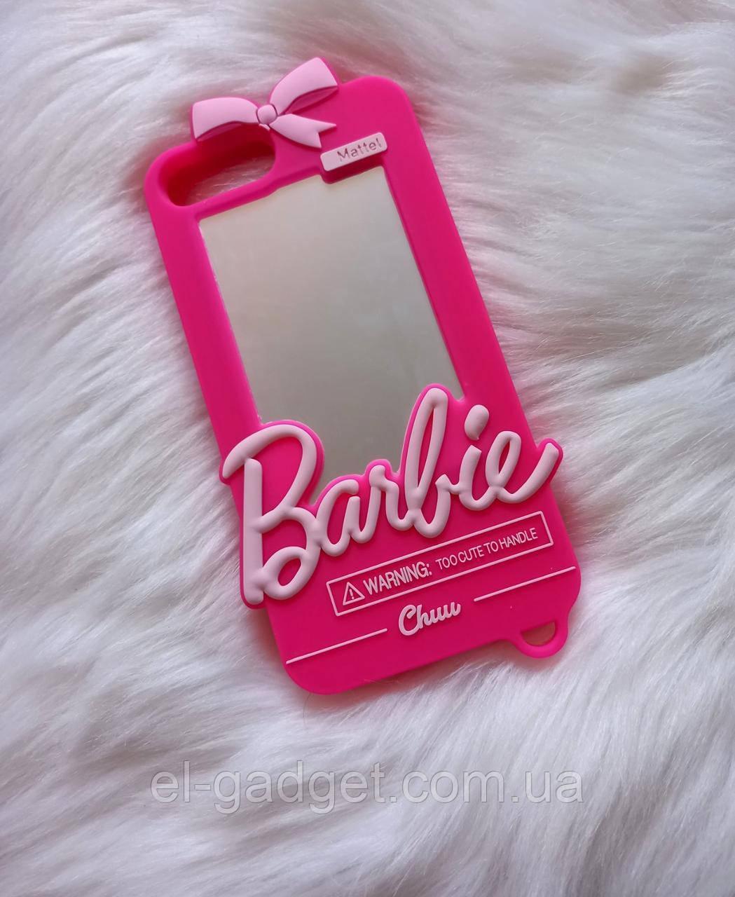 Чехол 3D на iPhone 7 plus Барби Barbie розовый