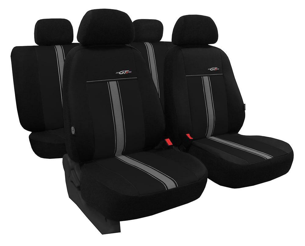 Автомобільні чохли універсальні Pok-ter Exclusive Alkantara 2+1 з екошкіри і алькантари чорний