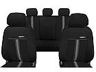 Автомобильные чехлы универсальные Pok-ter GTR из экокожи цвет черный с красным, фото 6