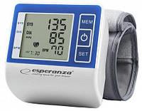Тонометр запястный Esperanza VIGOR ECB001 (Индикатор аритмии, Подсветка дисплея,жк-дисплей)