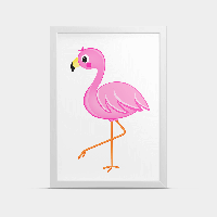 Постер в детскую Фламинго Розовый 20*30 см