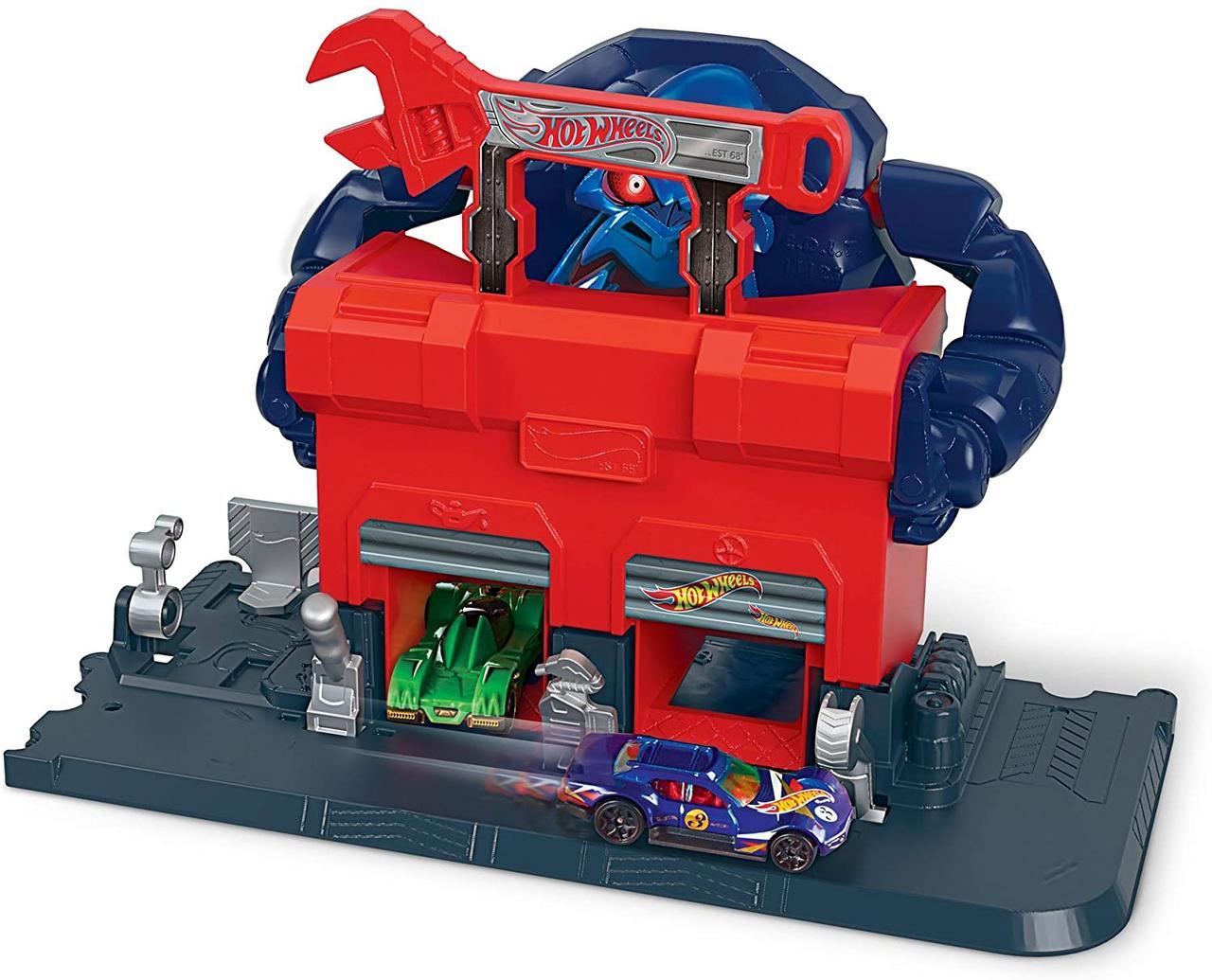 Трек Хот Вилс Hot Wheels Атака разъяренной гориллы Mattel Hot Wheels City Gorilla Rage