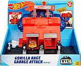 Трек Хот Вилс Hot Wheels Атака разъяренной гориллы Mattel Hot Wheels City Gorilla Rage, фото 4