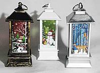 Декоративный новогодний фонарик 046F-1, фото 1