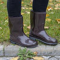 Сапоги резиновые [ВВС] женские коричневые, фото 1