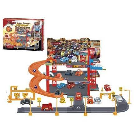 "Детский гараж ""Тачки"", 4 уровня, 18 машинок (Гараж Р 2199), фото 2"