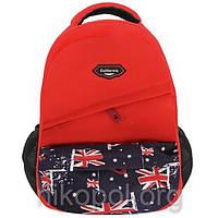 """Рюкзак школьный California """"M"""" Красный флаг Англии 2, ортопедический, 42х29х15см."""