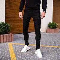 Джинсы МОМ мужские темные демисезонные, модные мужские, Штаны джинсы мужские черные