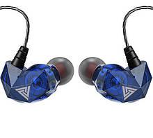 Дротові навушники QKZ АК2 Mic однодрайверные динамічні з гарнітурою Original Синій