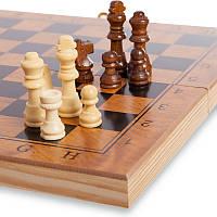Шахматы, шашки, нарды - набор игр 3 в 1, доска 39*39 см. (король 7 см, пешка 2,5 см), фото 1