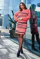 Женское яркое теплое вязаное платье Линда 46-54р.