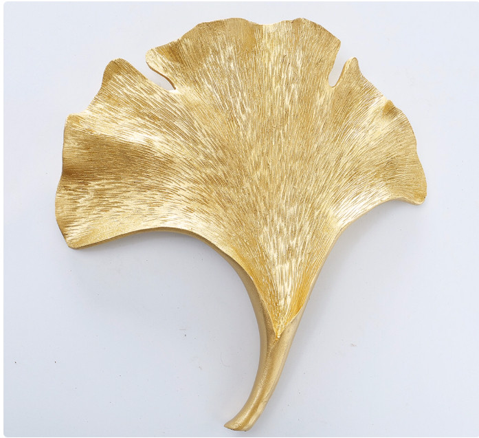 Настенная фигура Лист Гинкго, W 25 см, L 4 см золото