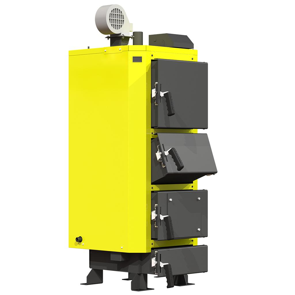 Сталевий твердопаливний котел тривалого горіння KRONAS UNIC P потужністю 62 кВт