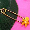 Булавка из желтого золота для мальчика - Золотая булавка для мальчика, фото 4
