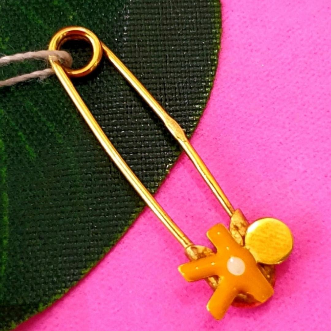 Булавка из желтого золота для мальчика - Золотая булавка для мальчика