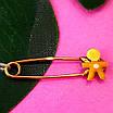 Булавка из желтого золота для мальчика - Золотая булавка для мальчика, фото 3