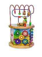 Деревянная развивающая игрушка-сортер 10 в 1 (5134-MUT-005)