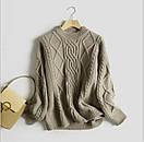 Женский свитер теплый зимний объемный ажурной вязки, фото 5