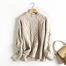 Женский свитер теплый зимний объемный ажурной вязки, фото 7