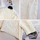 Женский свитер теплый зимний объемный ажурной вязки, фото 9