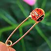Золота шпилька Божа Корівка - Дитяча золота булавочка - Золота шпилька для дитини, фото 3
