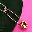 Золота шпилька Божа Корівка - Дитяча золота булавочка - Золота шпилька для дитини, фото 2