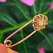 Золотая булавка - Золотая булавочка с цветочком - Женская золотая булавка, фото 4