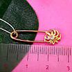 Золотая булавка - Золотая булавочка с цветочком - Женская золотая булавка, фото 5