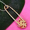 Золотая булавка - Золотая булавочка с цветочком - Женская золотая булавка, фото 2