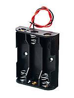 Батарейний відсік  АА x 3 шт плоский с проводами
