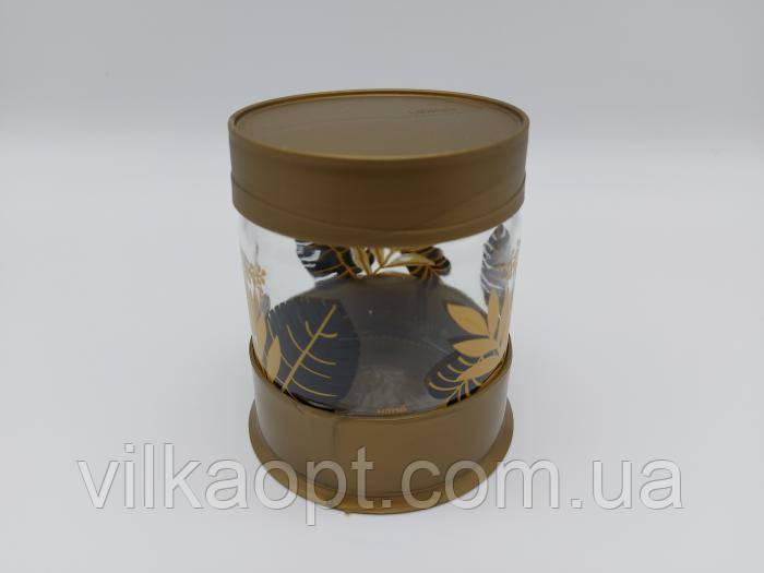 """Банка для сипких продуктів скляна ємність """"Золотий листок"""" 425 мл Ємності для зберігання харчових продуктів"""