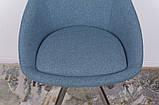 Стул поворотный Toledo синий текстиль Nicolas (бесплатная доставка), фото 5