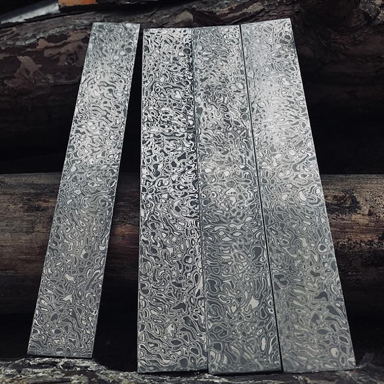 Заготовки на ножи из закаленной дамасской стали