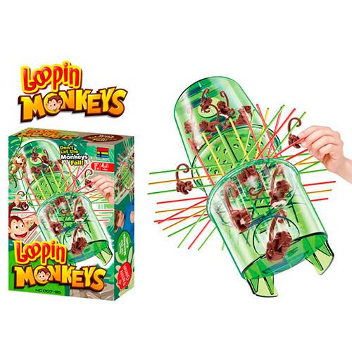 Настільна гра 007-96 Мавпочки, ігр.колба, фігурки, палички, в коробке 16-23,5-5,5см
