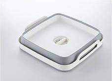 Корзина складная для овощей и фруктов портативная раковина раковину со сливом Folding Basket Серая, фото 3