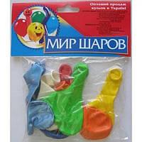 Набор воздушных шариков МИР ШАРОВ 087 Два сердца 7шт / уп