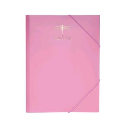 Папка на гумках А4 BUROMAX 3954-10 пластикова PASTEL рожевий (1)